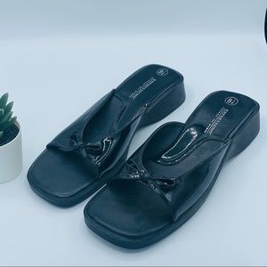 Expressions || Black Sandals with Bow; Size 8 1/2